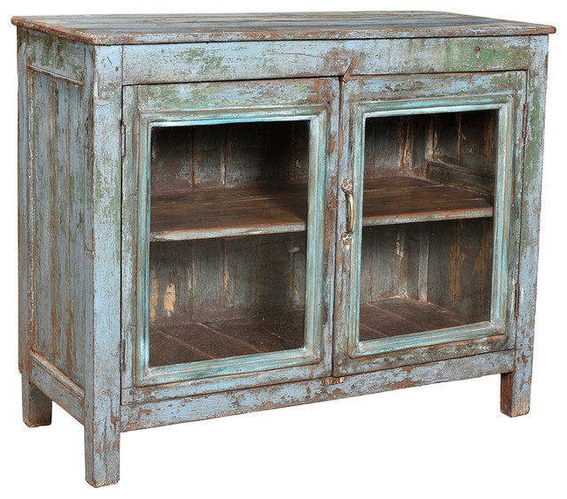 Consigned Vintage, Painted Display Cabinet - Eclectic - Accent Chests And Cabinets - by Design ...