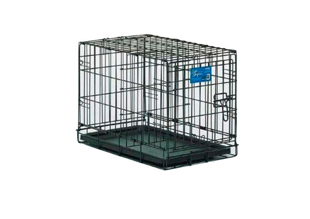 Midwest Life Stages Single Door Dog Crate Black Contemporary