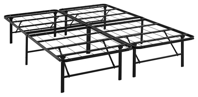 Horizon Queen Stainless Steel Bed Frame, Brown.
