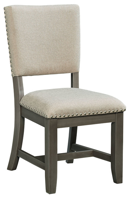 Omaha Side Chair, Gray, Set Of 2.