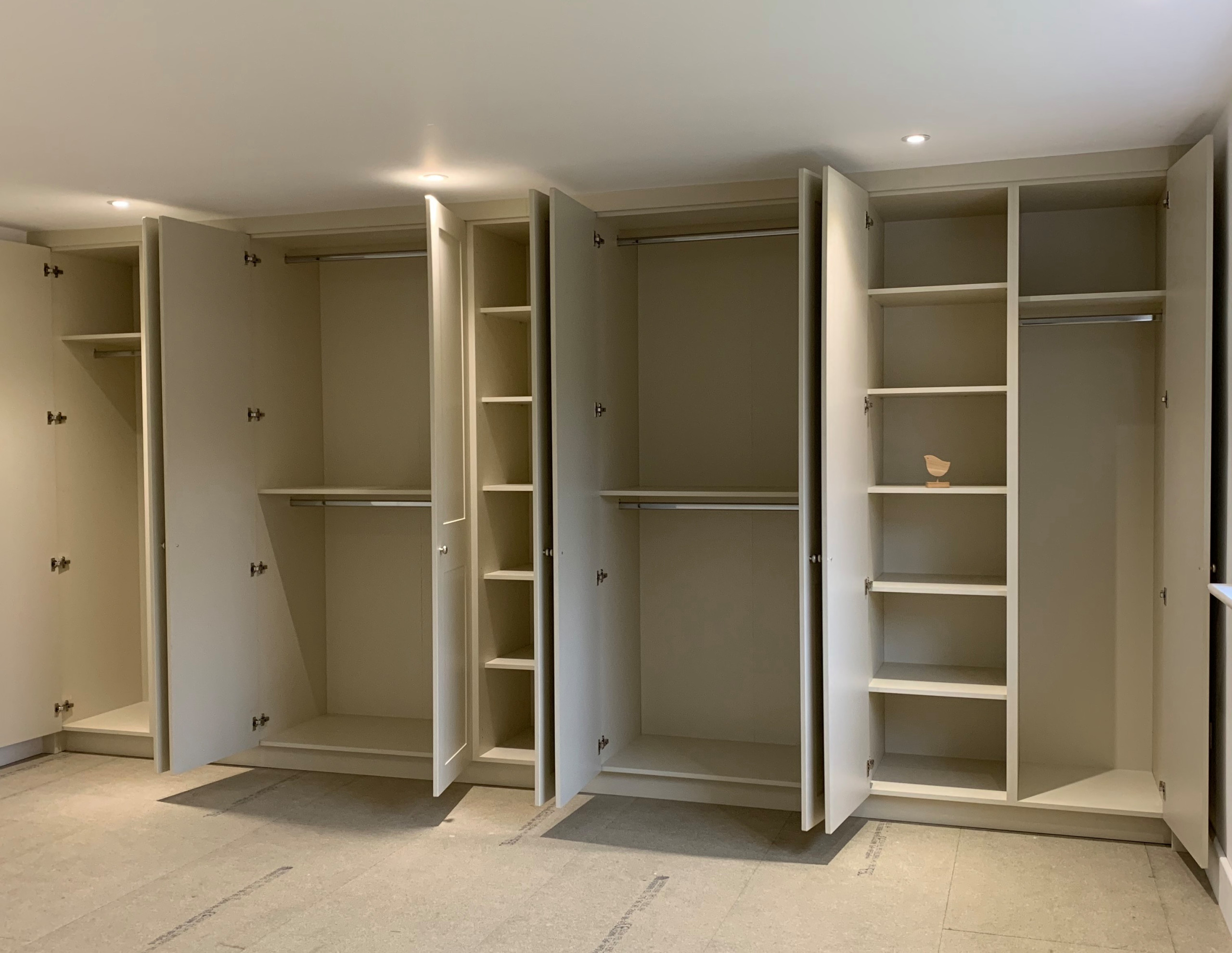 Bespoke Fitted Wardrobes in 'Mussell' Colour