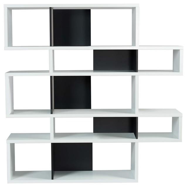 London Display Unit, Matt White and Black, Medium