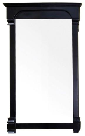 Bellaterra 24 Solid Wood Frame Mirror Traditional Bathroom Mirrors By Finishdecor