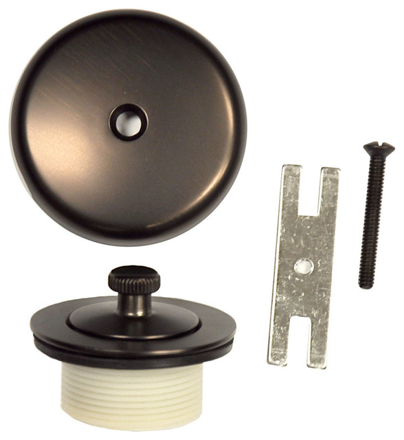 Danco Oil Rubbed Bronze Overflow Plate And Lift And Turn Stopper Kit #89487  Traditional
