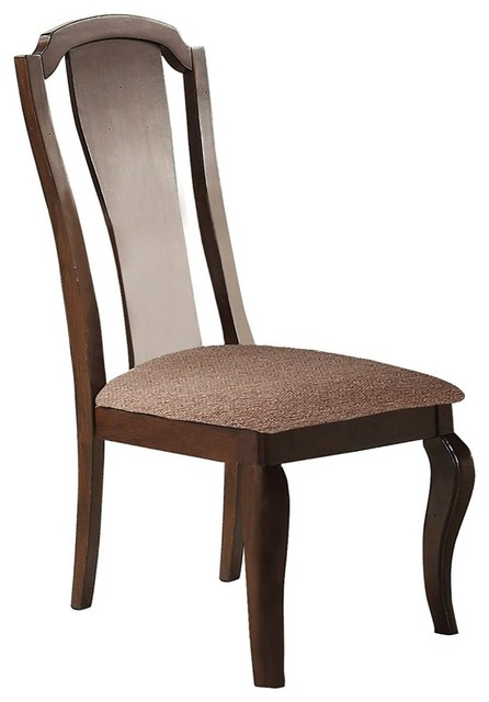 Pleasing Cherry Veneer Side Chair With Cabriole Legs Cherry Brown Set Of 2 Gamerscity Chair Design For Home Gamerscityorg