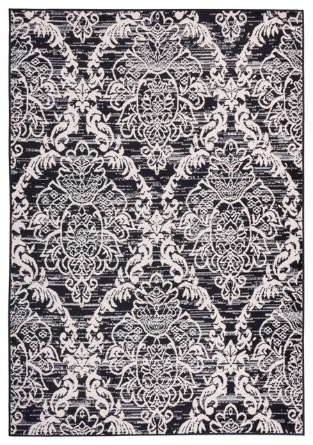 Attractive Miami Ginger Damask Black 5u0027x7u0027 Modern Damask Well Woven Area Rug  Traditional