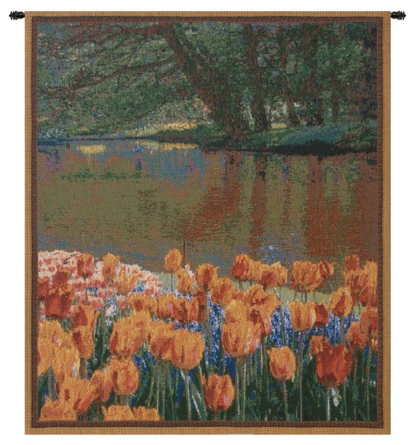 Keukenhof I Mini Tapestry Wall Art Hanging Traditional Tapestries By Oxeme Group Inc