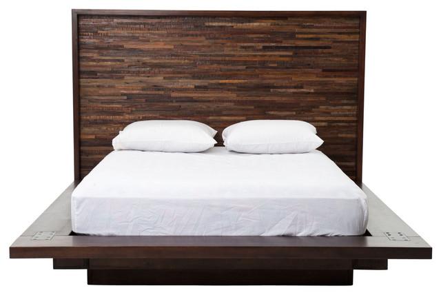 Ulla Wooden Bed, Queen