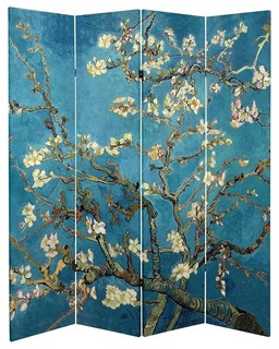 6 Tall Double Sided Works Of Van Gogh Canvas Room Divider