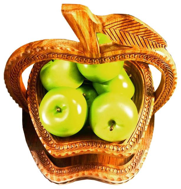 Longevity 12 Handmade Wooden Collapsible Basket Farmhouse Fruit