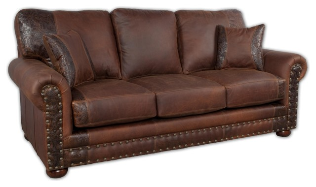 Ordinaire Western Rustic Leather Sofa