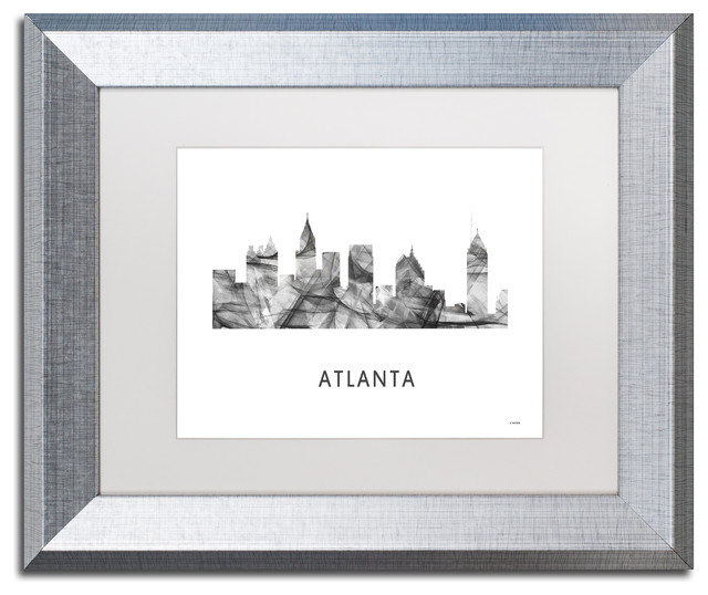 Atlanta Georgia Skyline Matted Framed Art Contemporary