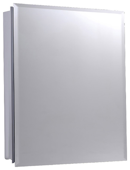 "Euroline Medicine Cabinet, 16""x22"", Beveled Edge, Surface Mounted"