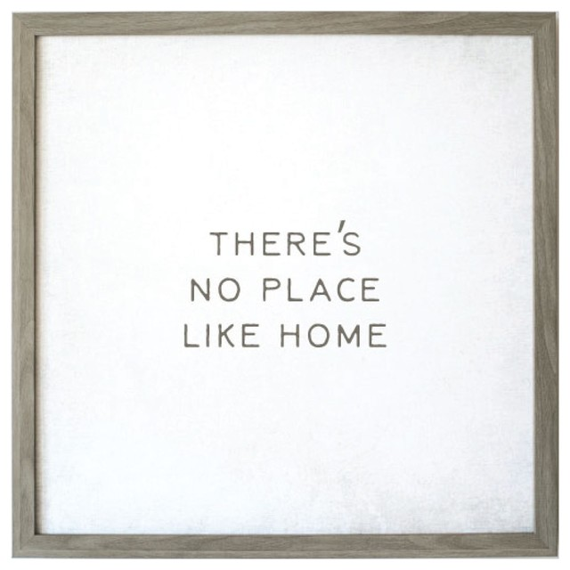 """""""there&x27;s No Place Like Home"""" Magnet Board With Vintage Frame, 32""""x32"""". -1"""