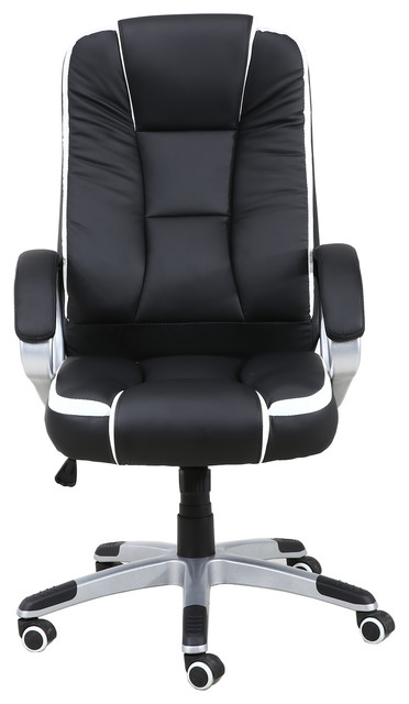 Comfortable Pu Leather High Back Executive Office Chair Desk, Black.
