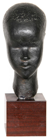 Ruth Gutman, African Woman, Sculpture With Black Patina