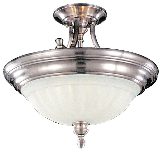 Murray Feiss Murray Feiss Sf140bs Neo Classic 2 Bulb Brushed Steel Semi Flushmount View In