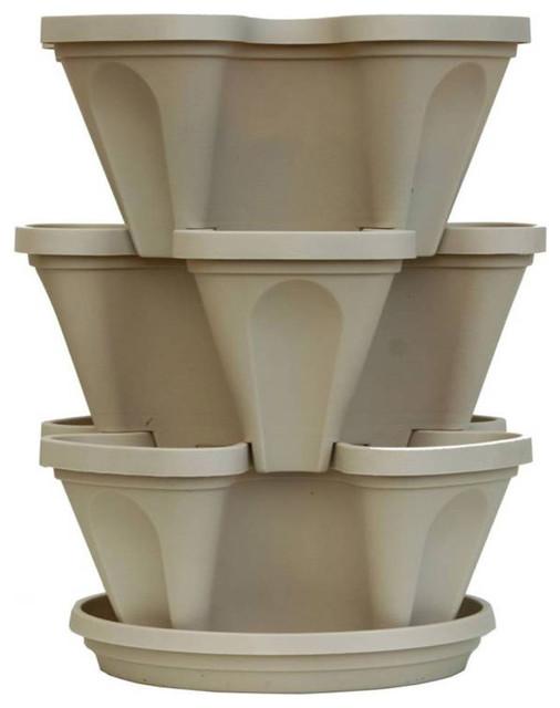 3 Tier Indoor Herb Garden Planter Set Traditional Outdoor Pots