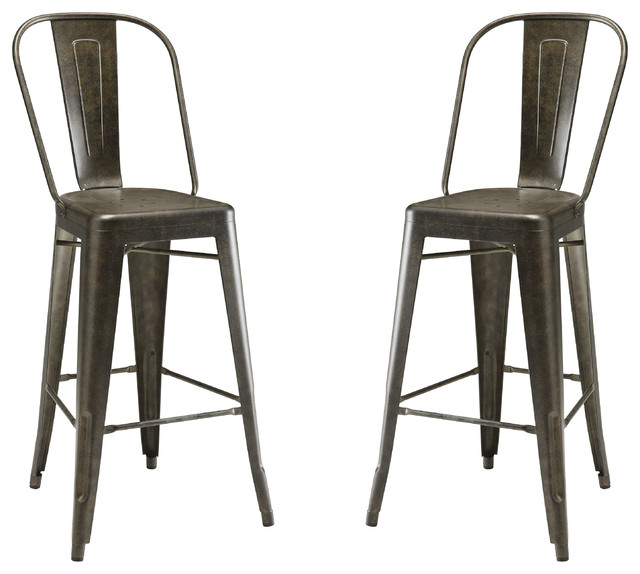 dining chairs color galvanized metal bar stools set