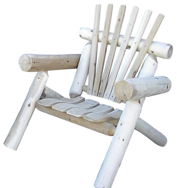 Rustic White Cedar Log Lawn Chair Only 1 Outdoor Lounge Chairs By Furniture Barn Usa