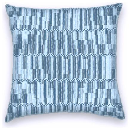 Bermuda Blue Taupe Funky Geometric Cotton Decorative Throw Pillow Stunning Funky Decorative Pillows