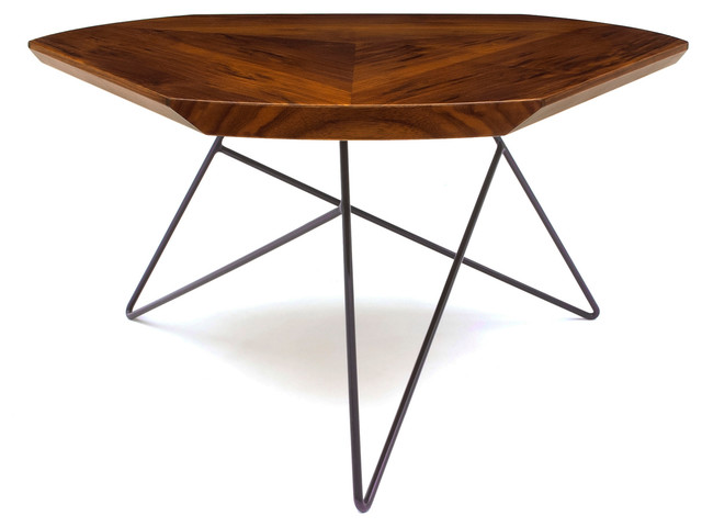Acute Coffee Table, Dark Plum