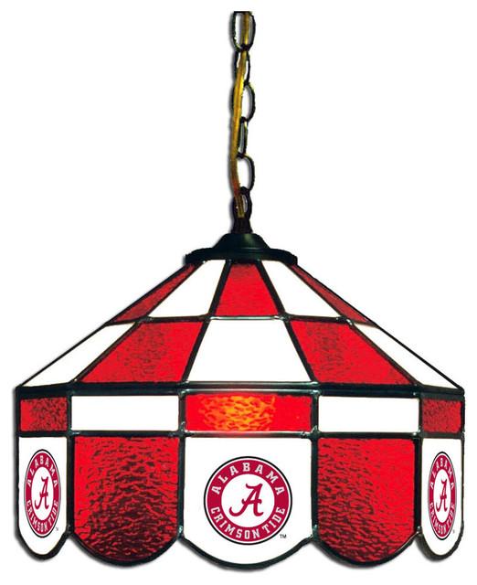 University Of Alabama Tiffany Style Executive Swag Lamp Craftsman Pool Table  Lights
