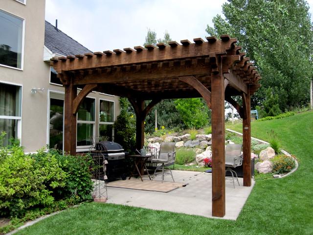 Bon Over Sized Timber Frame Pergola Arbor Gazebo Kits   Patio ...