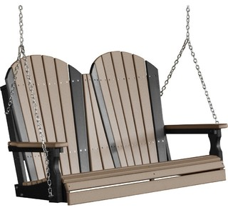 LuxCraft - 4' Adirondack Recycled Plastic Porch Swing - View in Your Room! | Houzz