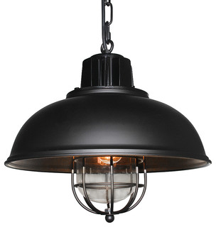 Retro Style Industrial Iron Glass Pendant Light