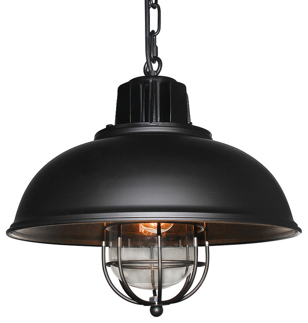Iron Glass Pendant Light