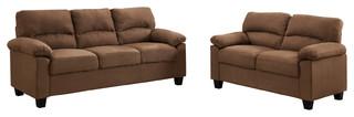 Stanley 3-Piece Living Room Set, Brown