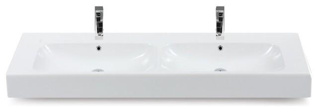 60 Ceramic Double Sink