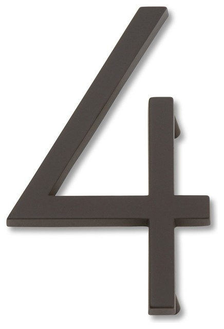 Atlas Homewares Modern Avalon Contemporary House Numbers - Contemporary house numbers