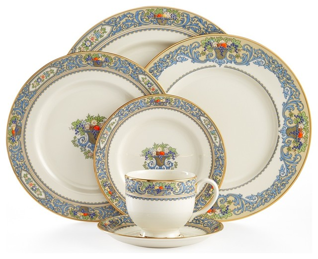 Lenox Autumn 5-Piece China Setting Set of 8  sc 1 st  Houzz & Lenox Autumn 5-Piece China Setting Set of 8 - Traditional ...