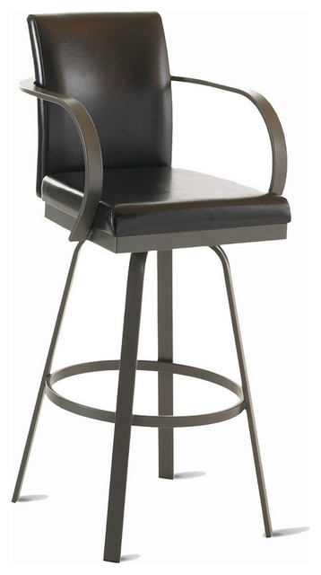 amisco lance upholstered back swivel stool with arms stoolsand - Amisco Bar Stools