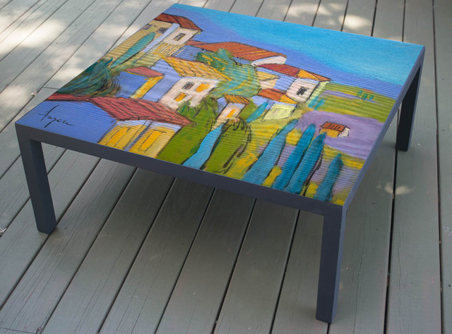 Hand Painted Coffee Table made to order The Hideaway design