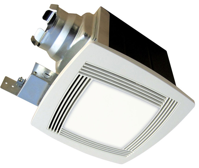 aerofan traditional bath fan with light and square grille cfm modern