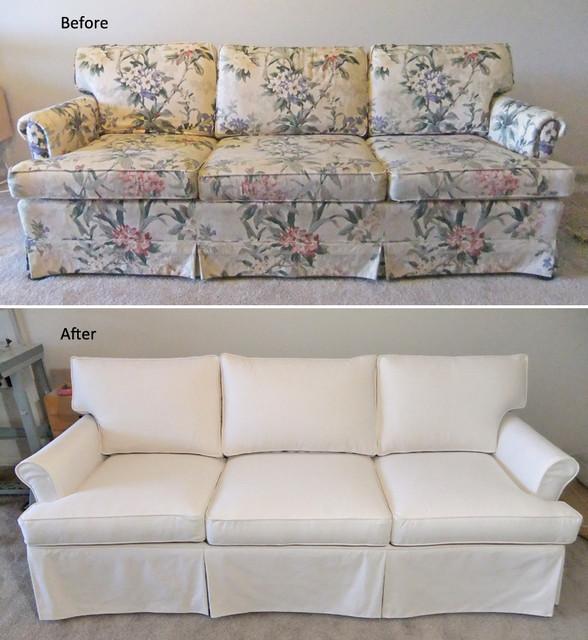 Ethan Allen Slipcovered Sofa