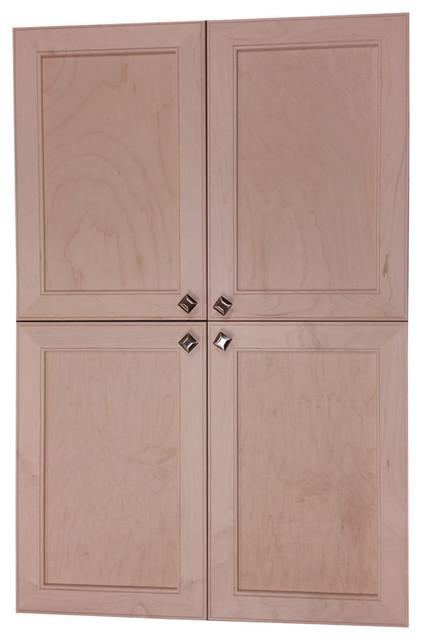 Village Sq Recessed 4-Door Frameless 30/34 Pantry Cabinet, 3.5x67.
