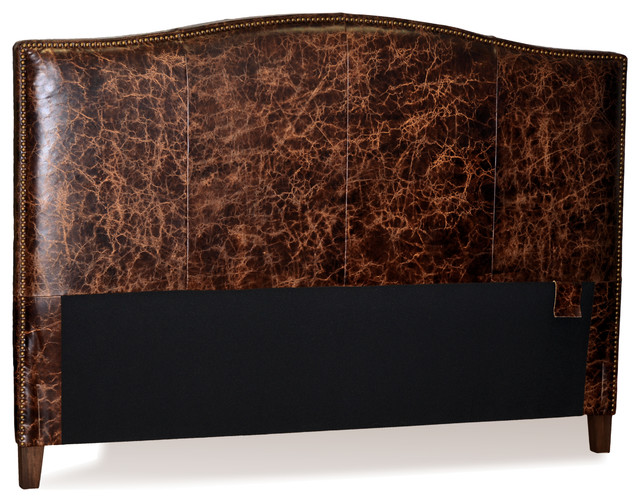 For Now Designs Old World Brown Leather Headboard For