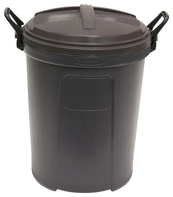Rubbermaid Blow Molded Round Trash Can Outdoor Trash Cans