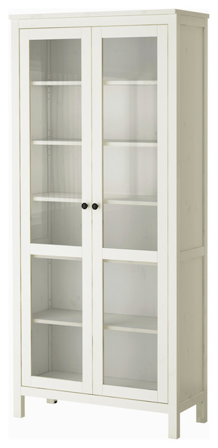 Hemnes Glass Door Cabinet, White Stain - Modern - Storage Cabinets ...