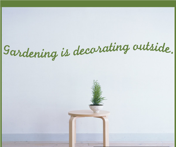 Houzz Spring Landscaping Trends Study: Gardening Is Decorating Outside Vinyl Wall Decal