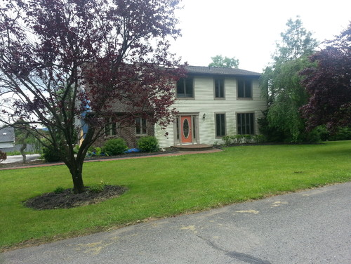 Need help updating an 80s colonial house into something for Updating 80s contemporary home exterior