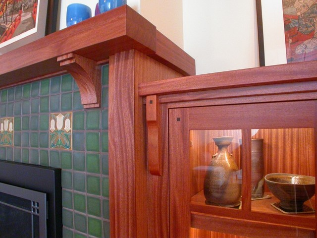 Craftsman Fireplace Mantel Traditional Seattle By