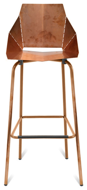 Blu Dot Copper Real Good Bar Stool Modern Bar Stools