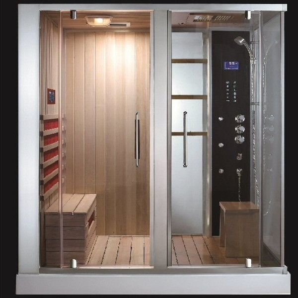 aquapeuticssouthwood steam shower sauna combo modern. Black Bedroom Furniture Sets. Home Design Ideas