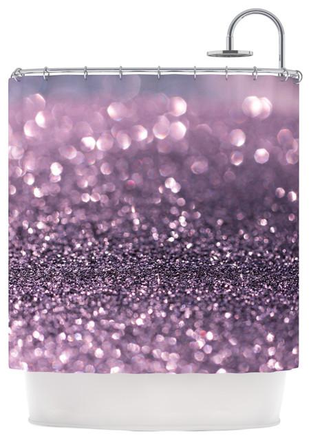 KESS InHouse Debbra Obertanec Lavender Sparkle Purple Glitter - Purple and gold shower curtain
