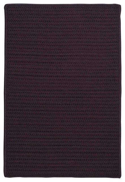 Solid Textured Braided Rug,Eggplant (Purple) Indoor/Outdoor Carpet ...